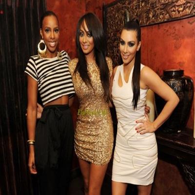 Kelly Rowland, La La Anthony, and Kim Kardashian
