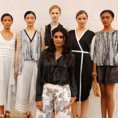 Rachel Roy with models