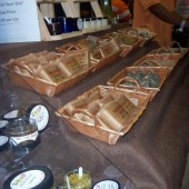Natural soaps at Soap Therapy booth