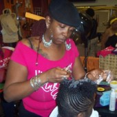 Two strand twist hair demonstration