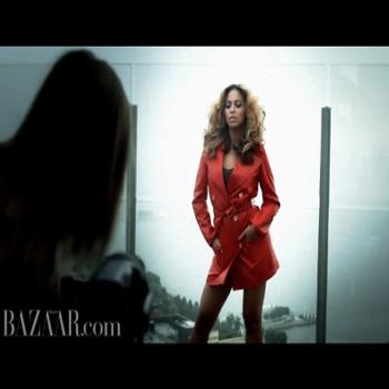 Beyonce behind the scenes