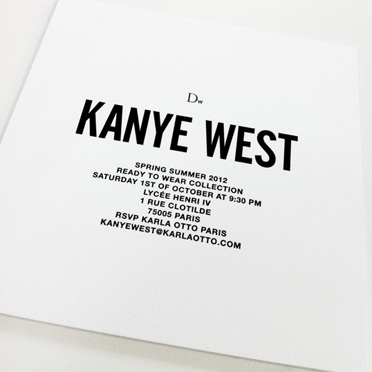 Kanye West Invitation