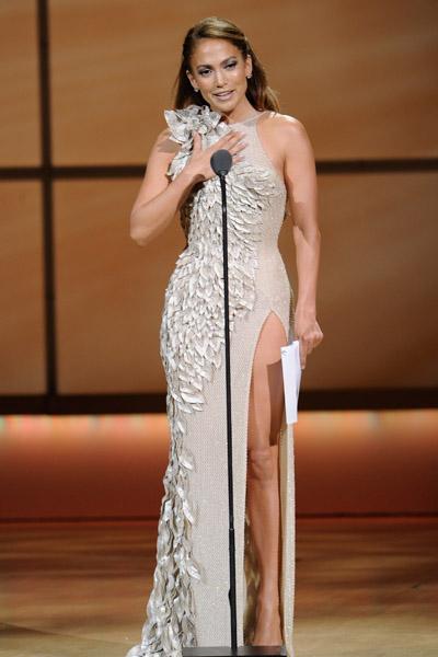 Jennifer Lopez at mic