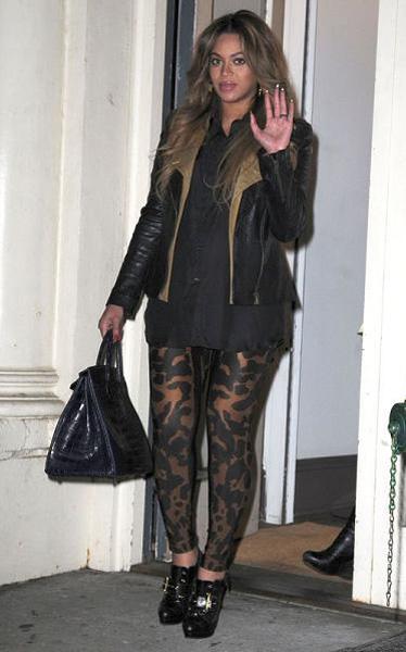 Beyonce wearing Leopard