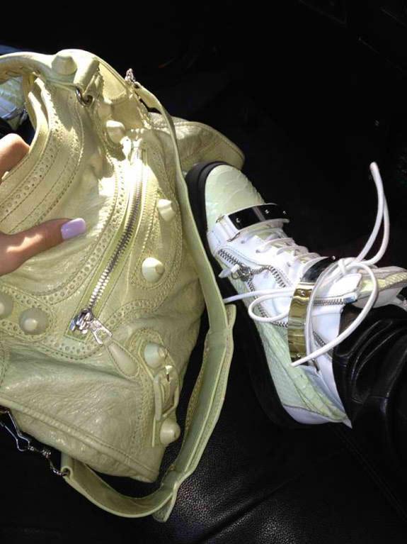 Cassie's sneakers