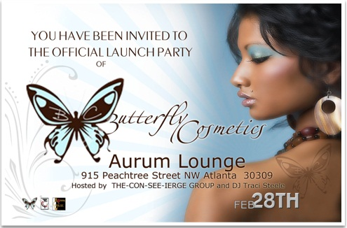 Butterfly Cosmetics Launch
