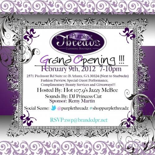 Purple Threads Grand Opening 2-9-12