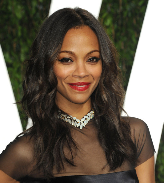 Zoe Saldana 2012 Vanity Fair Oscar Party