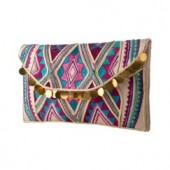 Target Embroidered Dangle Clutch Multicolored  $24.99