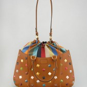 Fendi Studded One + One Drawstring-Top Satchel  $3670