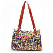 Nahui Ollin Arm Candy Keops Tutti Frutti Candy Wrapper Shoulder Bag   $176