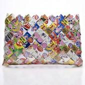 Nahui Ollin Arm Candy Sweet Cheeks Dubble Bubble Gum Wrapper Wristlet   $34