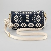 Toru Burch Claire Embroidered Leather Clutch   $450