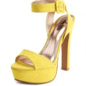 Charlotte Russe- Sueded Ankle Wrap Pump  $35.50