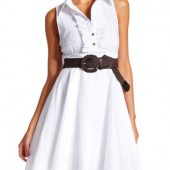 BELTED POPLIN SHIRT DRESS- Charlotte Russe- $32.99