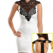 DELICATE LACE-TOP BODY-CON DRESS- Charlotte Russe- $26.99