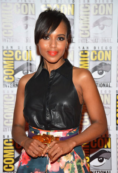 Kerry Washington in a leather bustier by Altuzarra