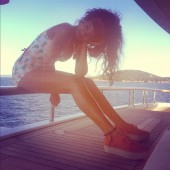 Rihanna at Sea