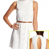 OPEN-BACK CROCHET LACE DRESS- Charlotte Russe- $26.99