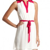 POP COLOR CHIFFON SHIRT DRESS- Charlotte Russe- $29.99