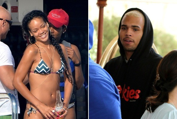 Chris Brown and Rihanna reunite on French Riviera
