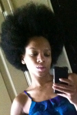lil mama in an afro
