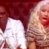 Nicki Minaj and 2 Chainz rock their gold for the cameras