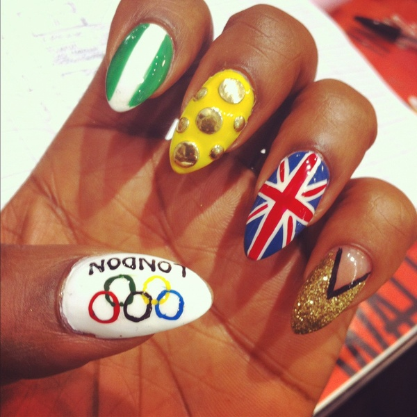 Top 10 Nail Designs Of The 2012 Olympics Talking Pretty