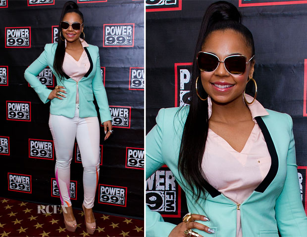 Ashanti red carpet ponytails
