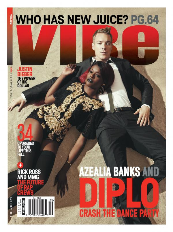 Azealia Banks and Diplo- Vibe Magazine