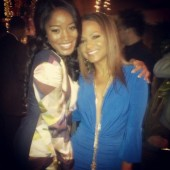 Christina Milian and KeKe Palmer snap a picture hanging out on the town in two super cute dresses.