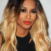 Ciara head out to an Award show in L.A. rocking her ombre hair and red lips.