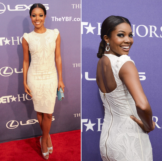 Gabrielle-Union-red carpet ponytails