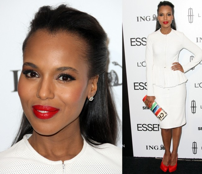 Kerry Washington Red Lips