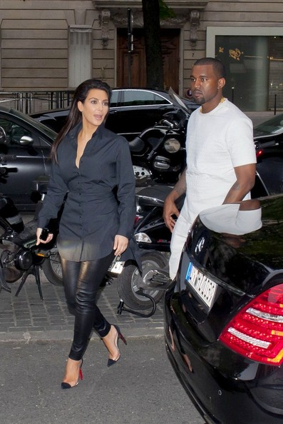 Kim Kardashian with Kanye West