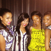 Trina with La La Anthony, Savannah Brinson, Gabrielle Union