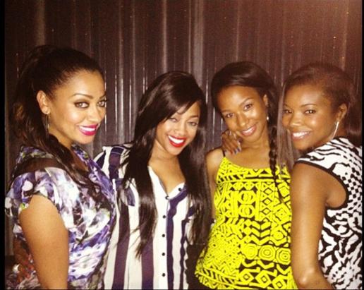 Trina with La La Anthony, Savannah Brinson, Gabrielle Union