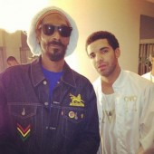 "Snoop Dogg/Lion ""@snoopdogg Me n @drake #ovoxo"""