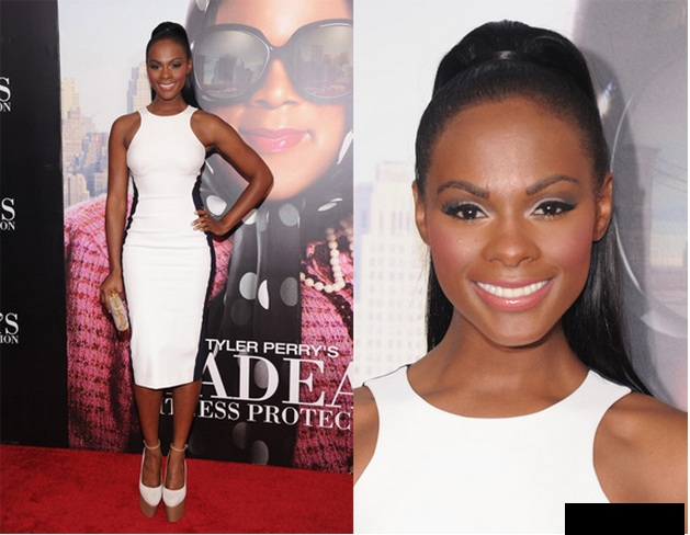 Tika Sumpter red carpet ponytails