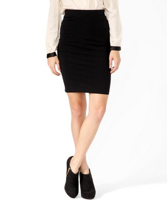 basic knee length skirt