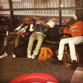 (Travis Porter) @Lakeemali After a long day L.A. airport
