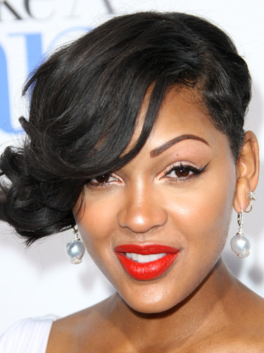 meagan good red lips