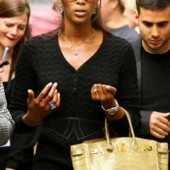 Naomi Campbell with Birkin Bag