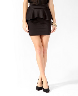 peplum bodycon skirt