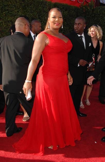 queen latifah red carpet ponytail