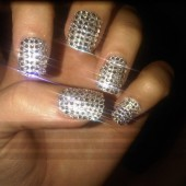 Get your &quot;Sparkle&quot; on with these bedazzled nails!