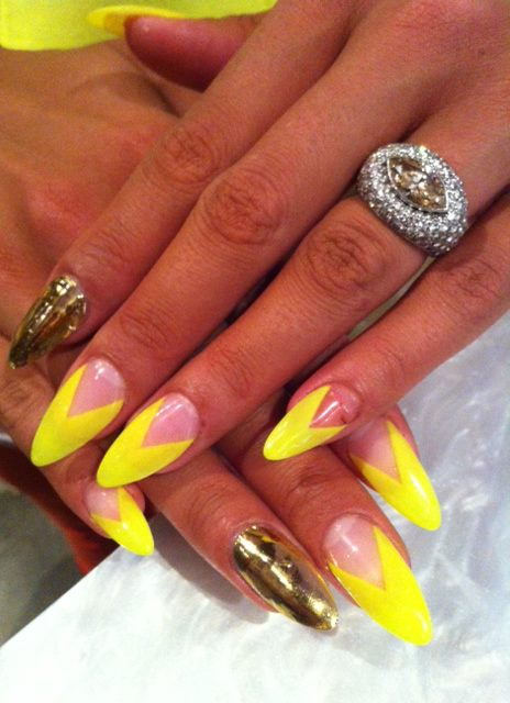 Cassie's Acrylic Stiletto Nails