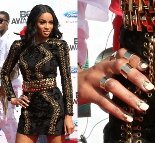 Ciara Reverse french manicure