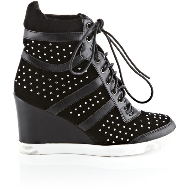 Diamonte Wedge Hi top Trainers $56