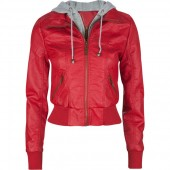 FULL TILT Fleece Hooded Womens Faux Leather Jacket ($40)  tillys.com
